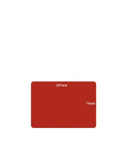 Меловые ценники формата А7 красный