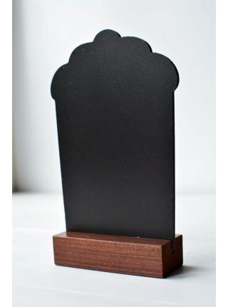 Табличка Кекс А7 на подставке из сосны (Пал)