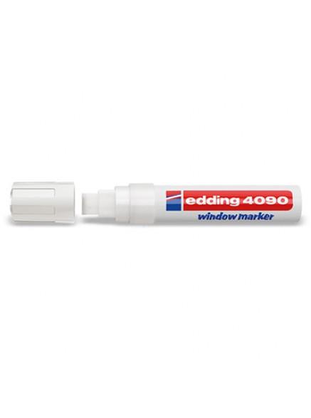 Маркер Edding меловой с широким стержнем 4*15 мм Белый цвет.