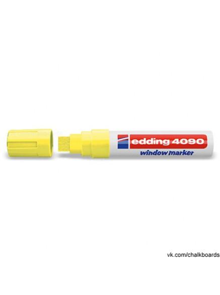 Меловой маркер Edding 4-15мм желтый