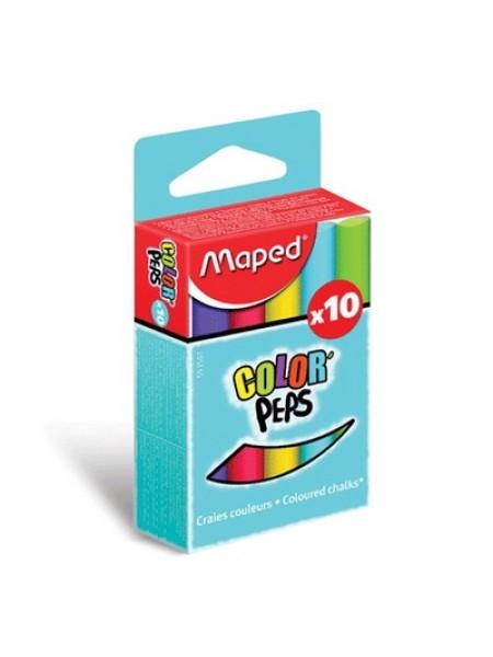Набор цветных мелков 10шт., Maped ColorPeps