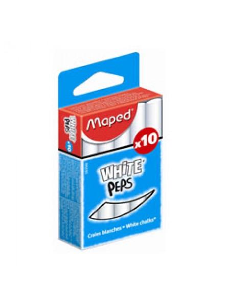 Набор белых мелков 10шт., Maped WhitePeps