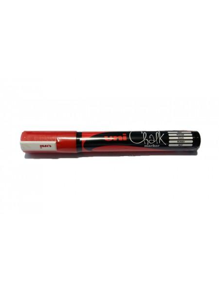 Маркер меловой Uni Chalk (1.8-2.5мм) красный