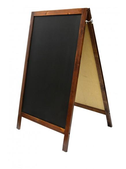 Двусторонний меловой штендер деревянный 110см