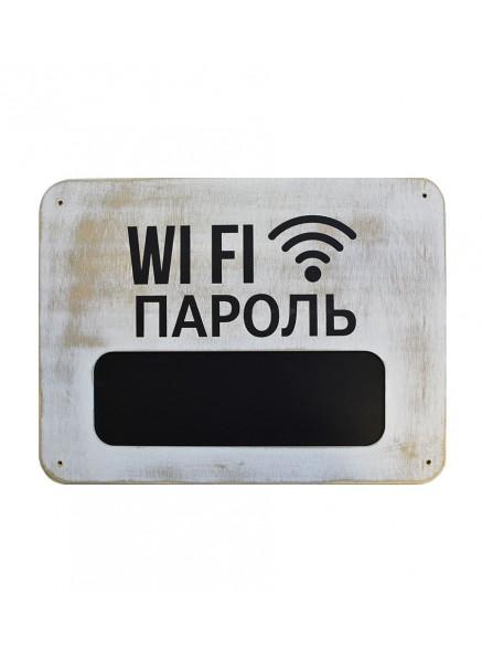 Меловая табличка wi-fi