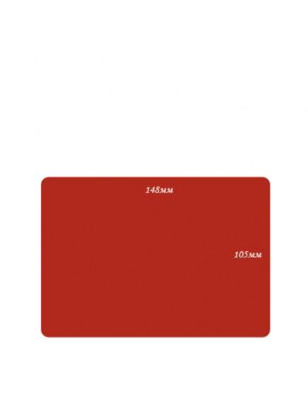 Меловые ценники формата А6 красный