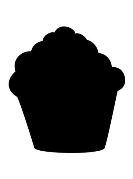 Доска для мела в виде кекса