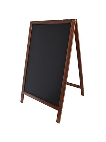 Односторонний меловой Штендер деревянный 110см