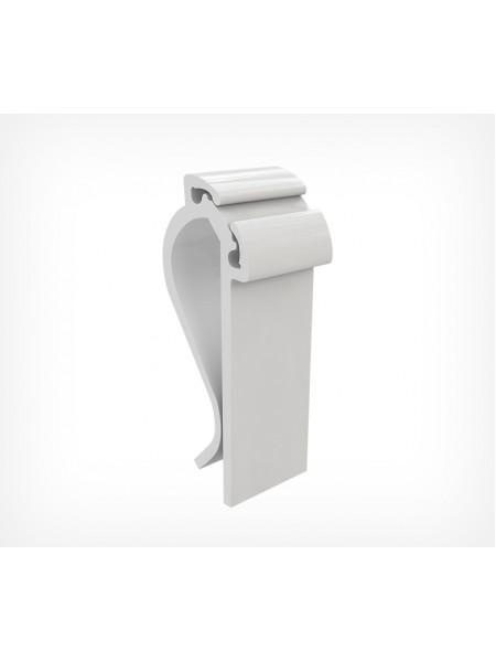 Держатель-зажим пластиковый, белый