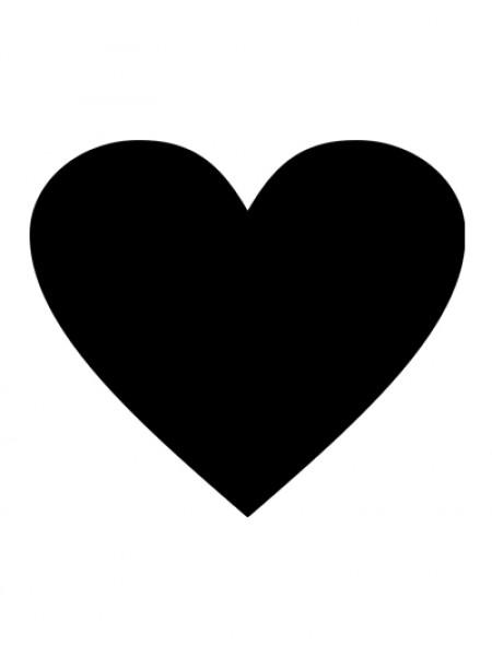 """Меловая доска """"Грифельное сердце"""""""