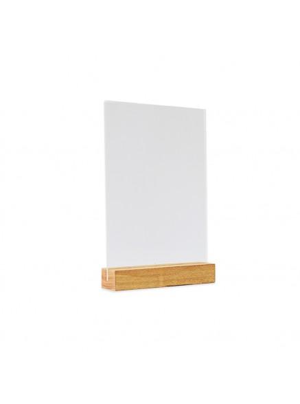 Менюхолдер А6 на деревянной подставке, вертикаль (Дуб)