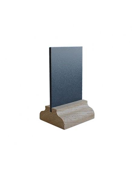 Меловая табличка А8 3мм на подставке из дуба, вертикальная