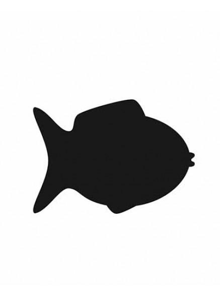 """Меловой ценник формата А6 """" Рыбка"""""""