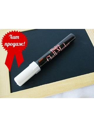 Меловой маркер Bistro 1,5-6мм белый