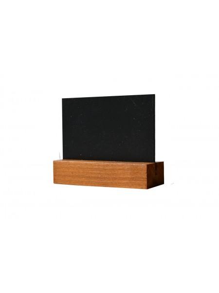 Табличка А8 на подставке из сосны, горизонталь (Дуб)