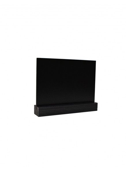 Табличка А6 на подставке из сосны, горизонталь (Черное дерево)