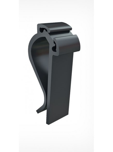 Держатель-зажим пластиковый, черный
