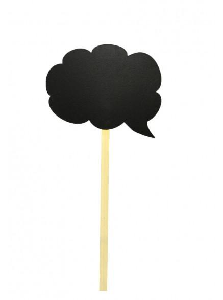 "Меловая доска ""Облако речи пузырь"" на палочке"